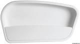 Seitenablage aus weißem ABS, 640x325 mm, rechte Seite