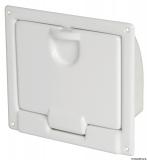 Ablage aus weißem, glänzenden ABS zum Wandeinbau, 220x195 mm