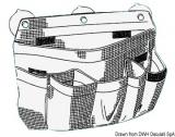 Seitenablage aus robustem weißem Segeltuch, 390x300 mm