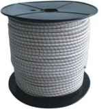 Gummiseil weiss als komplette 75m Spule Durchmesser 8mm