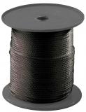Gummiseil schwarz als komplette 75m Spule Durchmesser 6mm