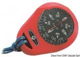 Handkompass mit Gummiarmierung Mizar rot
