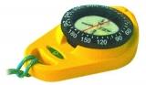 Handkompass mit Gummiarmierung Orion gelb