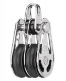 Sprenger 6mm Gleitlagerblock mit 2 Rollen und Bügel