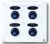 Schalttafel 12 V mit 4 Schaltern weiße Kunststoff-Schalttafel BBN3