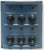 Schalttafel 12 V mit 6 Schaltern schwarze Kunststoff Mit LED BBN2