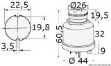 Zündschloss wasserdicht 0 (Schlüßel abziehbar) + 1 (AN) 2 (Anlassen, mit Rückfeder) + zusätzliche Funktion links von 0
