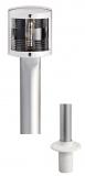 Teleskoplampenschaft Classic aus Eloxal mit Buglicht 100cm