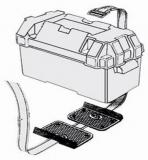 Doppelte Befestigungsplatte für Batterie oder Tank