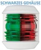 Navigationslicht Utility Compact, zweifarbig rot und grün 2 x 112,5 Grad Gehäuse schwarz