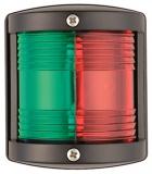Navigationslicht der Serie UTILITY 77, zweifarbig (rot/grün), schwarz