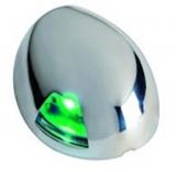 LED Navigationslicht Sea-Dog Scheinwerfer, Edelstahl, rechts für Boote bis 12m
