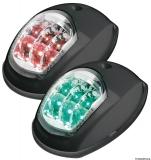 Navigationslicht mit EVOLED Leuchtquelle, schwarzes ABS, links+rechts für Boote bis zu 12 m