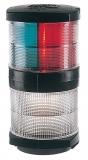 3 Farben Laterne 25W 2 x 112,5° + 135° Hecklicht mit Ankerlicht 360° Schwarzes Gehäuse Mastmontage BSH zugelassen
