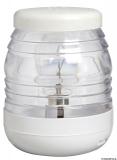 Rundumlicht 360 Grad aus Polycarbonat, weiß, 12V
