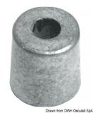 Zylinderanode für Yamaha 2,5/70 PS 13x13,6x12,7 mm Zink