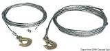 Stahl Kabel für Ankerwinden mit Karabinerhaken, 7,5m, ø 5mm