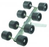 Bewegliche Seitenrolle, 40mm, erhöht, 8 Rollen Trailerzubehör 100