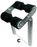 Bewegliche Mittelrolle, 40x40 mm Trailerzubehör