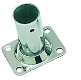 Relingstütze Rechteckige Grundplatte, 56x42 mm, 90°, für Rohr ø 22mm