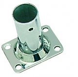 Relingstütze Rechteckige Grundplatte, 56x42 mm, 90°, für Rohr ø 25mm