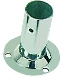 Relingstütze Runde Grundplatte, ø 60mm , 90° Schrägstellung, für Rohre ø 25mm