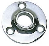Runder Relingstützenhalter, rostfreier Edelstahl AISI 316, 90° Schrägstellung, für Rohre ø 22mm