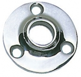 Runder Relingstützenhalter, rostfreier Edelstahl AISI 316, 90° Schrägstellung, für Rohre ø 25mm