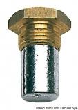Schraubenanode für Kühlsystem, Gewinde 18x1,50, 15x35 m Zink