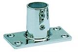 Rechteckiger Relingstützenhalter, rostfreier Mikrofusions-Edelstahl AISI 316, 90°, für Rohre ø 22mm