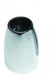 Relingstützenhalter, stumpf-oval, rostfreier Edelstahl AISI 316, 90°, für Rohre ø 25mm