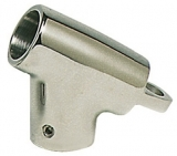 Handlaufstütze, Edelstahl, T -form, Rohr ø 22mm, 60°