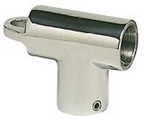 Handlaufstütze, Edelstahl, T-form, Rohr ø 22mm, 90°