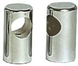 Mittelstütze aus verchromtem Messing für Rohre ø 30mm