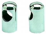 Abgerundetes Handlaufendstück aus Edelstahl mit 22mm Öffnung