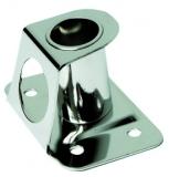 Relingfuß aus Edelstahl mit einer Neigung von 4° Für Rohr 25mm