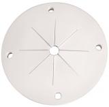 Flexibler Angelrutenhalter mit Lamellen weiß, 100mm Außendurchmesser