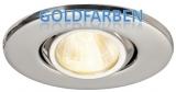 Schwenkbare, kompakte Einbauleuchte ALTAIR, goldfarben