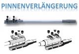 Pinnenverlängerung Aussenborder Stoppknopf starre Ausführung 700mm Steuergriff