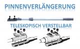 Pinnenverlängerung Aussenborder Stoppknopf teleskop Ausführung 880 - 1400 cm
