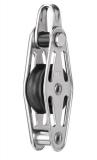 Sprenger 6mm Gleitlagerblock mit 1 Rolle, Bügel und Hundsfott