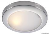 Kreisförmiger Strahler Polaris aus hochglanzpoliertem Edelstahl Wasserfest, IP56.