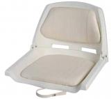 Sitz aus weißem Polyethylen mit einklappbarer Lehne