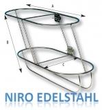 Fender Korb Edelstahl schräg 970 x 480 x 325 mm Links Für 2x Fender