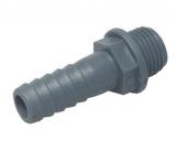Polypropylen Schlauchanschluss 1/2 Zoll auf 16mm, gerade