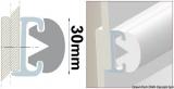 PVC-Einlege Profil 30mm Farbe Grau für die Grundschiene 44.030.05