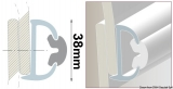 PVC-Einlege Profil 38mm Farbe weiss für die 44.038.05 oder 44.038.07