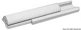 Grundschiene aus starrem Duralen Kunststoff für Einlegeteil Profil PVC 38mm Grau