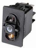Schalter 4polig Glühbirnen weiß 12V Typ ON-OFF-ON