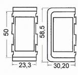 Rahmen für Schalter Einsatz f. Mitteleinsatz  Farbe Weiß